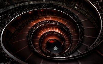 лестница, италия, спираль, ступени, ватиканский музей, спупеньки