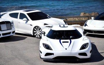 белая, феррари, автомобили, 458 italia, фоновые рисунки, агера р, кёнигсегг, rols royce, porsche panamera