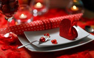 свечи, сердечки, день святого валентина, 14 февраля