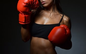 girl, boxing, boxing gloves
