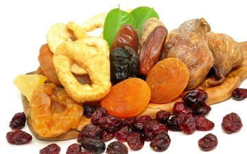 фрукты, изюм, инжир, курага, сухофрукты, чернослив