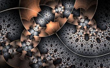 абстракция, узор, фракталы, форма, фрактал