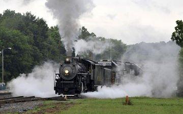 железная дорога, движение, поезд, транспорт, локомотив, паровоз