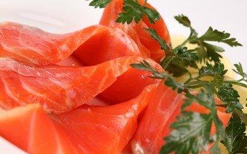 красная, рыба, морепродукты, сельдерей, сёмга, лосось