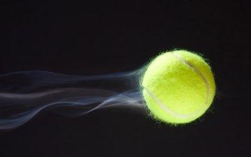 макро, скорость, траектория, шлейф, теннис, теннисный мяч, полета