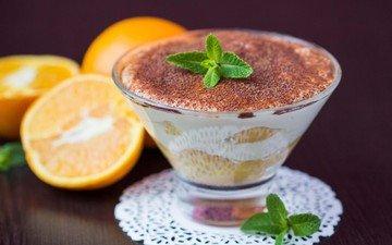 крем для торта, апельсин, сладкое, печенье, десерт, в шоколаде, какао, итальянка, тирамису, аппетитная, сладенько, cтекло