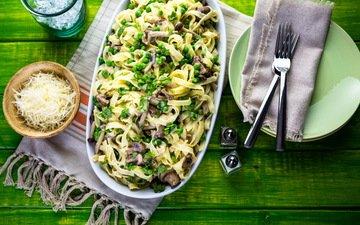 грибы, сыр, горох, специи, брынза, макароны, макарон, боровики