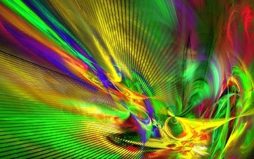 полосы, абстракция, линии, разноцветные, цвет, графика, завитки, фрактал, петли