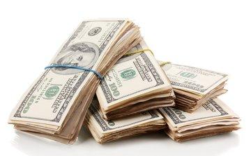 деньги, доллары, купюры, доллар, бизнес