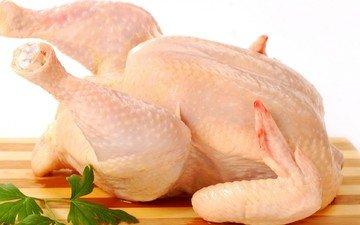 белый фон, курица, петрушка, окорочка, куриное мясо, дощечка