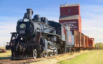 железная дорога, движение, поезд, транспорт, вагоны, состав