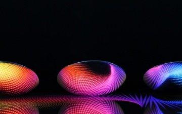 свет, абстракция, линии, отражение, лучи, цвет, спектр, фары