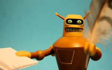 robot, cartoon, autograph, futurama