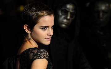 girl, hair, actress, emma watson, short hair