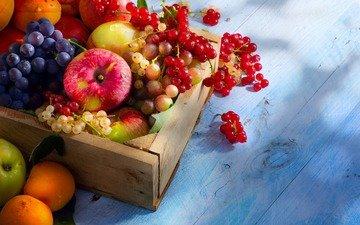 виноград, красная, фрукты, яблоки, ягоды, лесные ягоды, белая, смородина, ящик, fruits, абрикосы, парное
