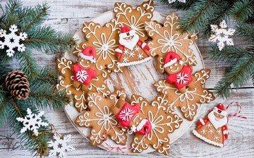 елка, зима, снежинки, звезды, ветки, еда, сладости, человечки, ель, фигурки, праздники, шишки, тарелка, печенье, выпечка, десерт, встреча нового года, еловая ветка, anna verdina, пряники, елочная