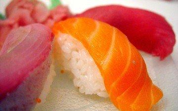 рыба, рис, суши, морепродукты