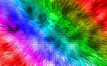 абстракция, узор, цвет, радуга, разноцветный, яркий