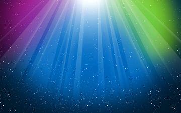 свет, абстракция, линии, лучи, цвет, свечение, точки