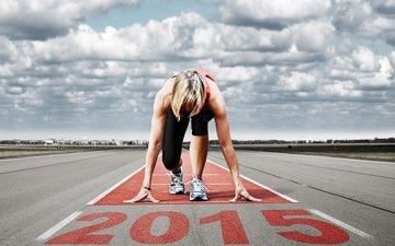 девушка, скорость, спорт, бег, легкая атлетика