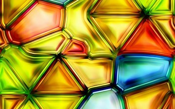 abstraction, background, glass, colorful, triangles, stained glass