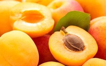 макро, лето, фрукты, абрикос, абрикосы