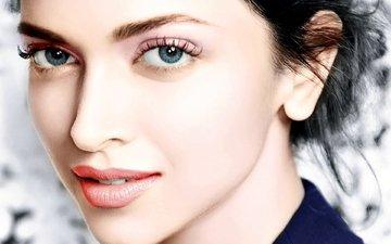 девушка, улыбка, портрет, взгляд, модель, лицо, актриса, индийская, дипика падуконе