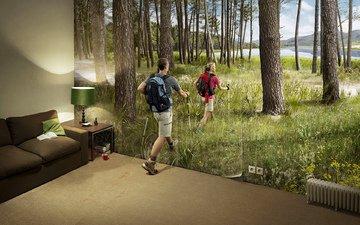 природа, комната, отдых, юмор, поход, туризм