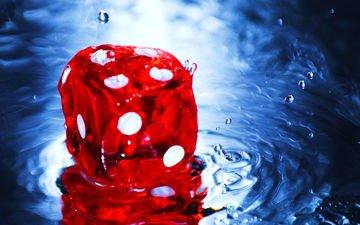 water, drops, the game, cube, bones