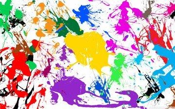 абстракция, текстура, краски, цвет, радуга, брызги, пятна, акварель, клякса, пятно