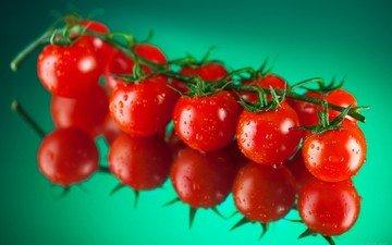 вода, фон, капли, овощи, помидоры, томаты, спелые