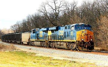 железная дорога, поезд, локомотив, вагоны