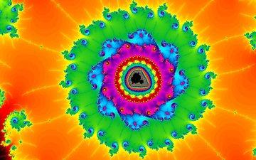 свет, узор, цвет, фрактал, симметрия