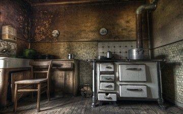 интерьер, фон, стол, стул, комната, кухня