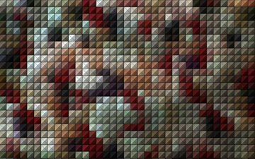 pattern, color, mosaic, squares