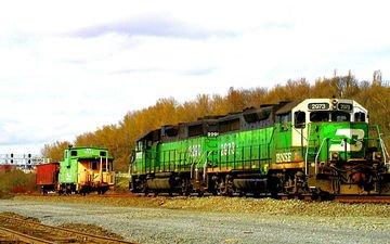 железная дорога, рельсы, поезд, вагоны
