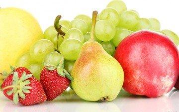 виноград, фрукты, яблоки, клубника, ягоды, груши, слива