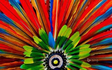 macro, paint, feathers, the aztecs, headdress