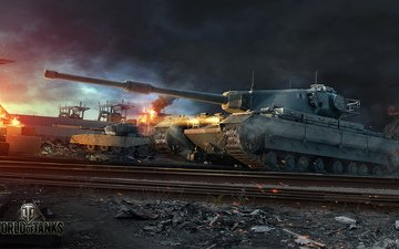 world of tanks, wot, conqueror, wargaming net, fv4202
