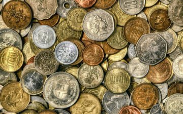 money, coins, the coins of the world