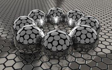 balls, cell, steel