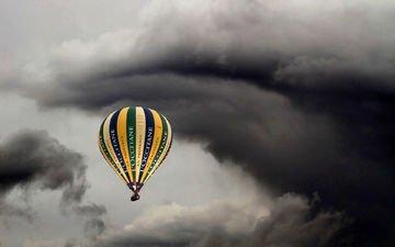 небо, шар, спорт, воздушный шар