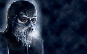 blue, ice, cold, game, mortal kombat, sub-zero
