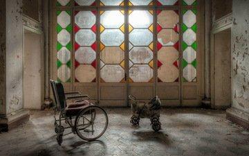 интерьер, дверь, комната, коляски