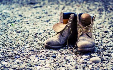 камни, обувь, ботинки, шнурки, башмаки