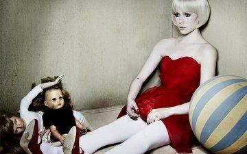 девушка, музыка, игрушка, кукла, певица, аврил лавин