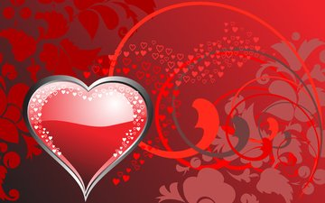 vector, color, red, heart, love, hearts, valentine's day