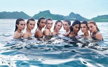 море, девушки, мокрые, модели, кэндис свейнпол, в воде, бехати принслу, victorias secret angel, jac jagaciak, jasmine tookes, эльза хоск, джоан смоллс, марта хант, лили олдридж, стелла максвелл