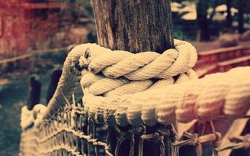 забор, сетка, переплетение, веревка