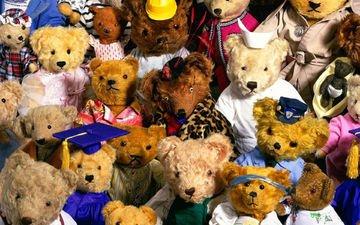 мишки, игрушки, медведи, мягкие, медвежата, плюшевые